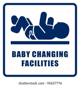 Baby changing facilities.
