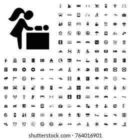 Baby changing room icon illustration isolated vector sign symbol. airport icons set for web and mobile.