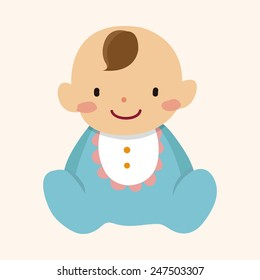 baby character flat icon