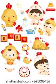 Baby in Chicken Costume