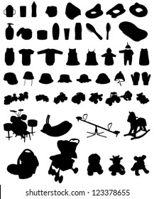 Silhouette Baby Clothes Images Stock Photos Vectors Shutterstock
