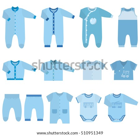 eb02a699c404 Baby Clothes Garments Infant Kids Sketches Stock Vector (Royalty ...