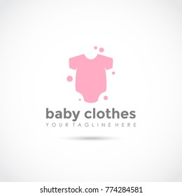Baby Clothes Logo Design. Vector Illustrator Eps. 10