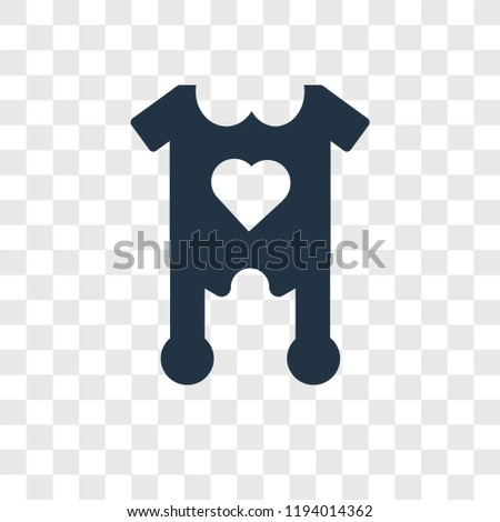 828f057ef3f8 Baby Clothes Vector Icon Isolated On Stock Vector (Royalty Free ...