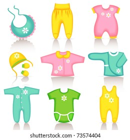 Baby clothing icons