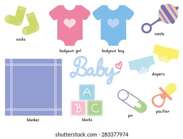Baby Collection Package Vector