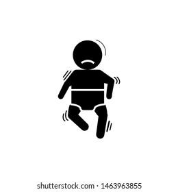 Baby, cramp, seizure icon. Element of baby icon