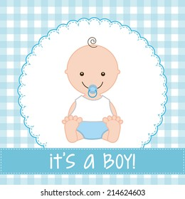 baby design over  pattern background vector illustration