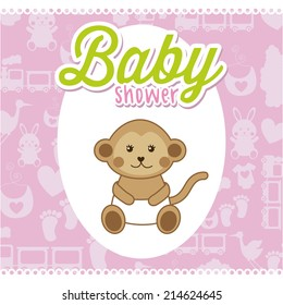 baby design over pattern background vector illustration