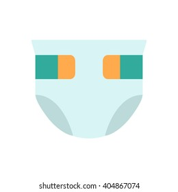 baby diaper icon for web in a flat style. vector illustration