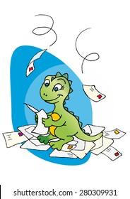 Baby Dinosaur reading