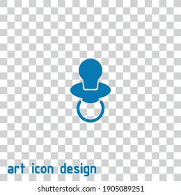 baby dummy vector icon on an abstract background