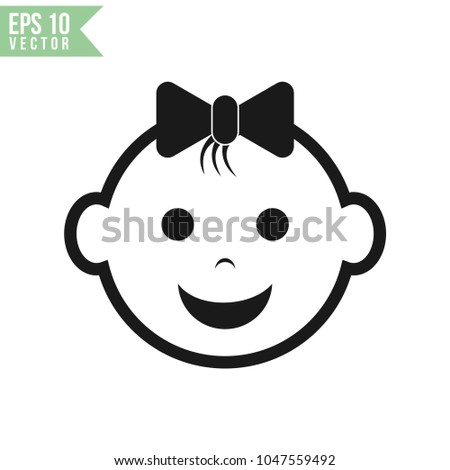 baby face icon vector template stock vector royalty free