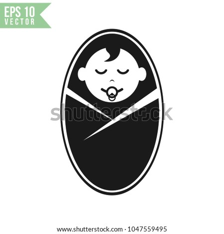 Baby Face Icon Vector Template