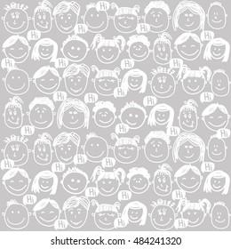 baby face vector graphic illustration design art