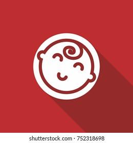 Baby face vector icon.