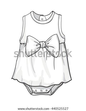 Baby Fashion Baby Clothing Vector Illustration Stock Vector Royalty