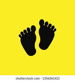 baby feet icon vector
