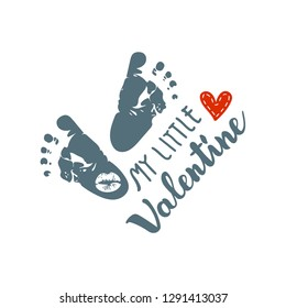 Baby Feet's - My Little Valentine
