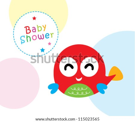 27d96310ef9a Baby Fish Shower Stock Vector (Royalty Free) 115023565 - Shutterstock