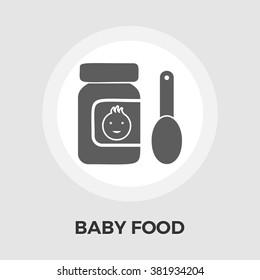 Baby Food icon vector. Flat icon isolated on the white background. Vector illustration.