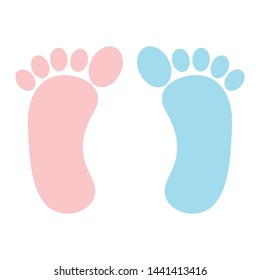 baby foot prints decorative icons