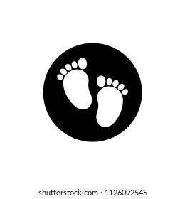 Baby footprints icon.