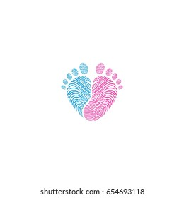 Baby footsteps vector illustration