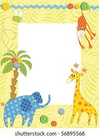 Baby frame or card. Vector