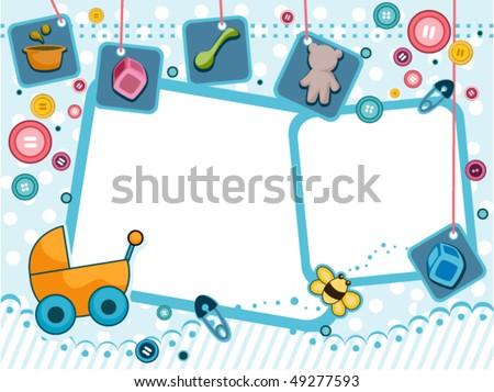 Baby Frame Design Vector Stock Vector (Royalty Free) 49277593 ...