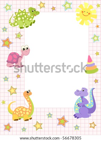 Baby Frame Invitation Girls Stock Vector (Royalty Free) 56678305 ...