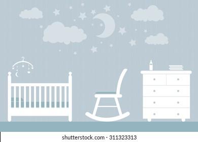 baby furniture blue