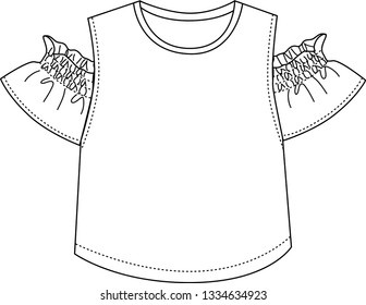 baby or girl blouse template design,summer tshirt ,trend fashion  silhouette