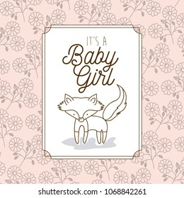 its a baby girl frame with fox