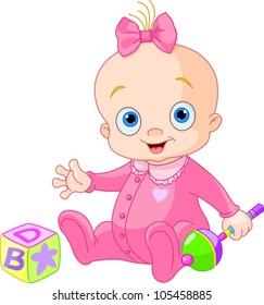 Baby Girl Cartoon Images Stock Photos Vectors Shutterstock