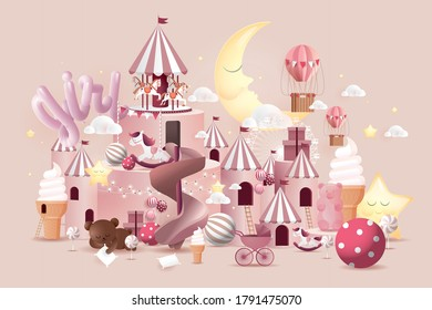 baby girl baby shower design template vector/illustration