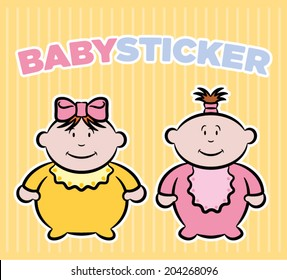 Baby girls stickers
