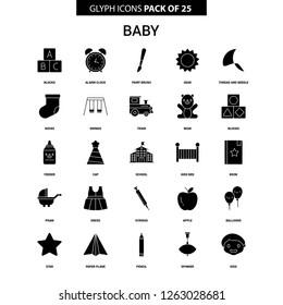 Baby Glyph Vector Icon set