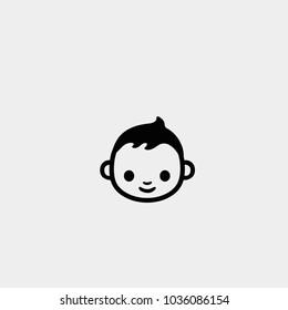Baby icon. Baby boy icon. Vector baby boy symbol