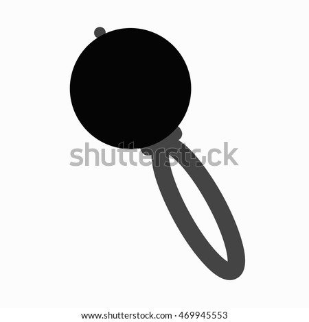 baby icon rattle template design decoration stock vector royalty