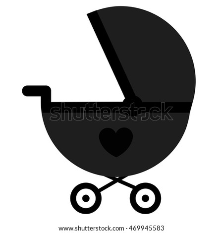 Baby icon stroller template design decoration stock vector royalty baby icon stroller template for design and decoration vector illustration baby black icon maxwellsz