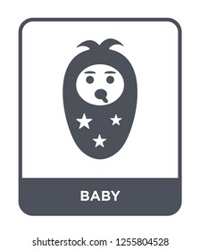baby icon vector on white background, baby trendy filled icons from Kids and baby collection, baby simple element illustration