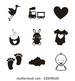 baby icons over white background. vector illustration