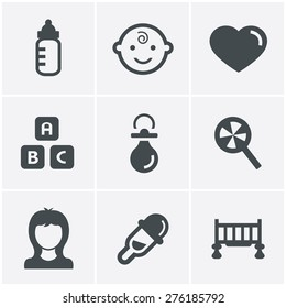 Baby Icons Set, Vector Design