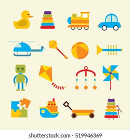Baby icons set. Vector illustration