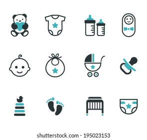 Baby icons. Vector set.