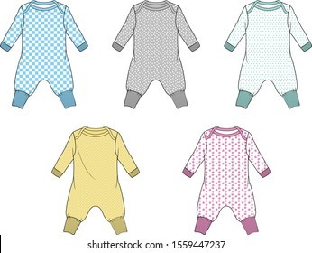 Baby Jumpsuit Fashion Flat Templates