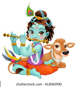 Cartoon Krishna Images Stock Photos Vectors Shutterstock