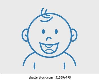 Baby Line Icon Symbol