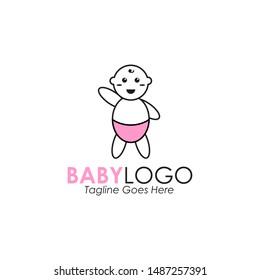 Baby logo design vector template